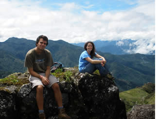 At the peak of La Artilleria Hike in Boquete, Panama